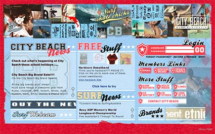 Image of City Beach home page